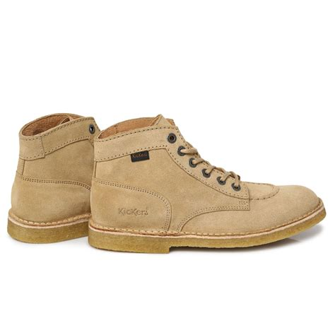 Kickers Suede kickers beige brown kick legend suede mens ankle high boots shoes size 7 11 ebay