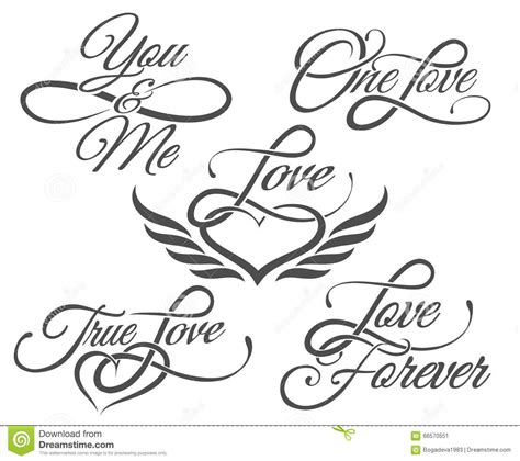 tattoo lettering i love you love lettering in tattoo style stock vector image 66570551