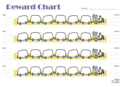 Homework Hubbub by Reward Chart Trains Printable Bub Hub