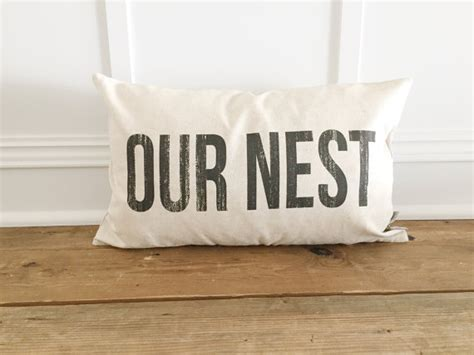 Our Nest Pillow by Distressed Our Nest Pillow Cover
