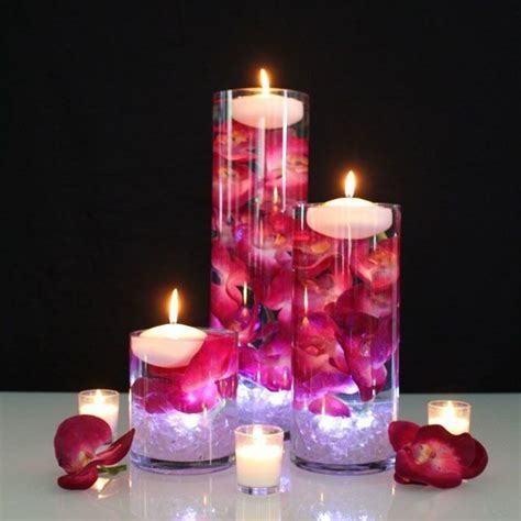 Cylinder Vases With Floating Candles And Flowers by 5 Quot Clear Glass Cylinder Vase 18 Quot In Diameter
