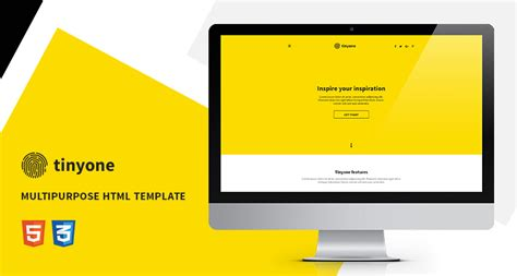 one page html free template tinyone onepage multipurpose html template free html5