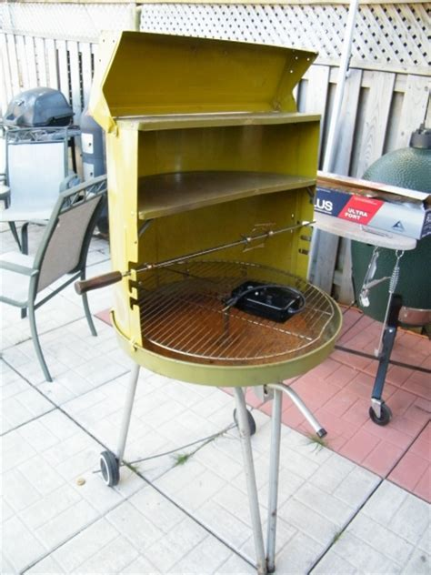 Camarons Grillés by Vintage Lime Green Charcoal Grill Bbq
