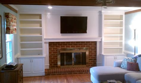 fireplace bookcases traditional family room other