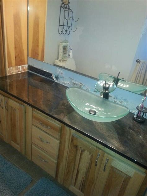 Plywood Countertop Finish by Not Bad For A 50 Countertop From Plywood Spray Paint And