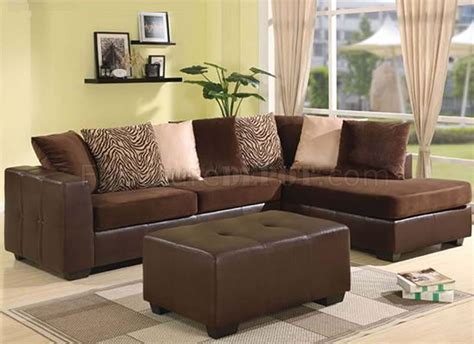 Chocolate Brown Sectional Sofas Chocolate Brown Ultra Plush Contemporary Sectional Sofa