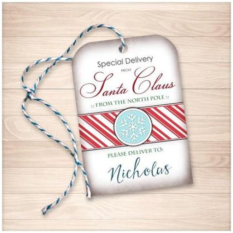 large printable gift tags from santa special delivery from santa claus personalized gift tags