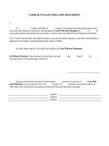 free codicil template will and trust forms 44 free templates in pdf word