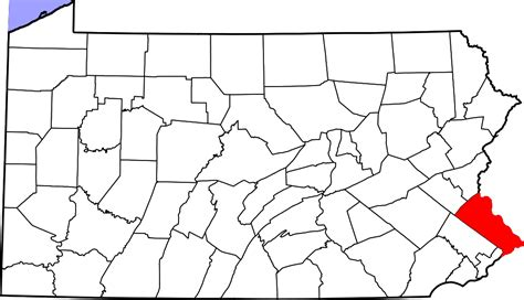 Bucks County Pa Property Records File Map Of Pennsylvania Highlighting Bucks County Svg