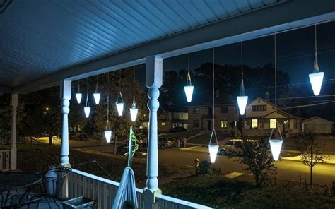 hanging solar garden lights hanging solar garden light gadgets matrix