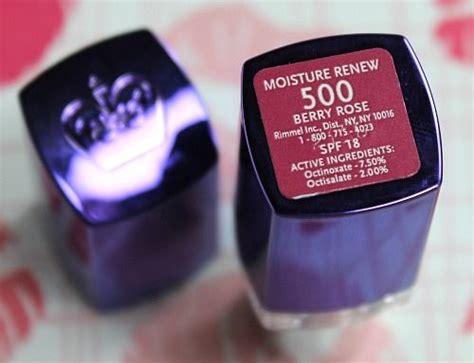 N Megalast Lip Color Sugarplum blair rimmel moisture renew lipstick in berry wear in
