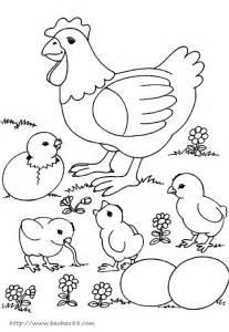 小动物简笔画图片 小鸡吃食 动物简笔画  5068儿童� sketch template
