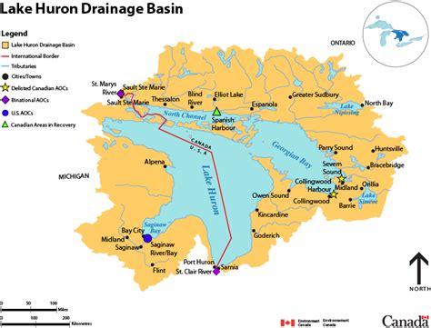 map of lakes in canada lake huron drainage basin map canada ca