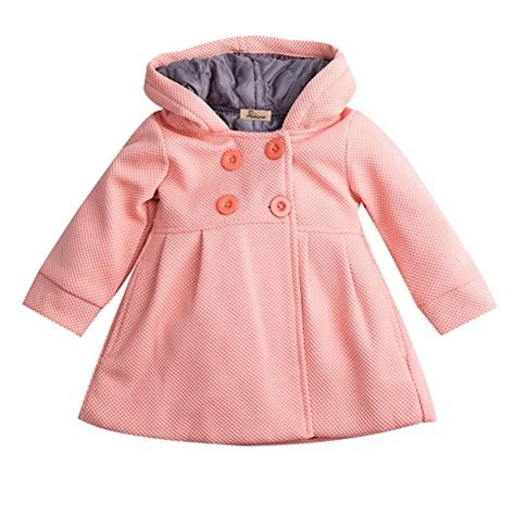 Prime Jacket Baby Pink baby toddler fall winter trench coat wind hooded jacket outerwear 6 12 months skin