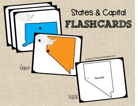 printable flash cards united states state capitals game