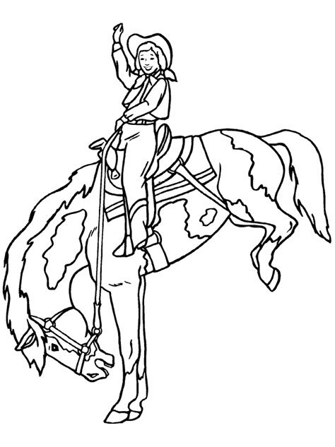Cowboy Coloring Pages Coloringpages1001 Com And Cowboy Coloring Pages Printable