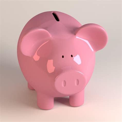 pig piggy bank 3d model piggy pig bank