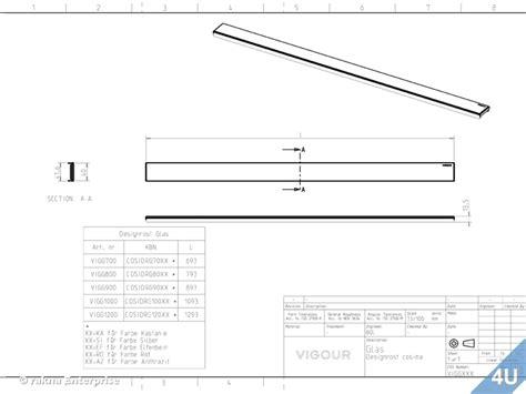 vigour duschrinne designrost f 252 r cosima edelstahl design