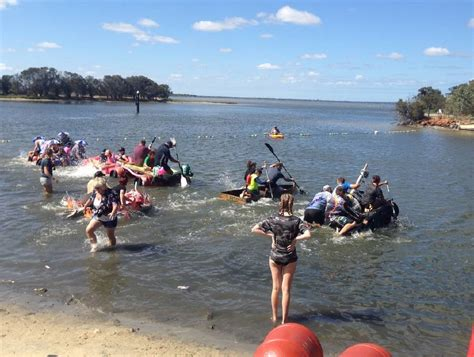 boat r yunderup competitors take to the water in south yunderup s annual