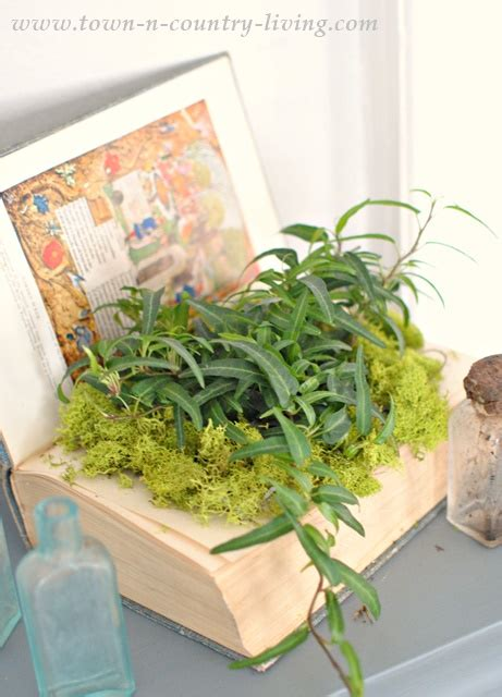Book Planter by How To Make A Book Planter Town Country Living