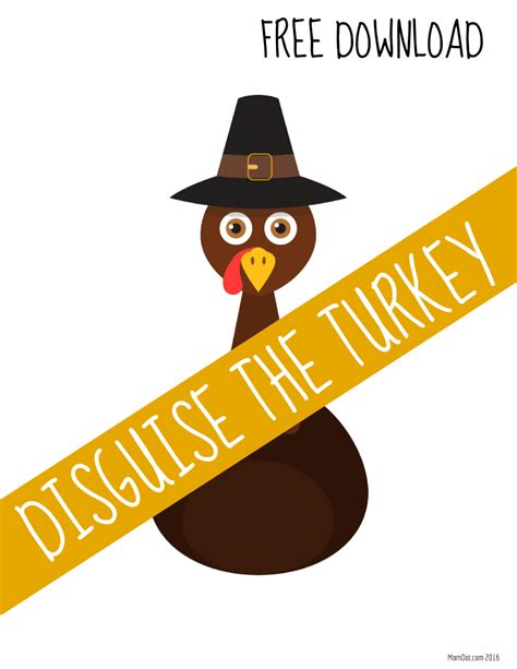 turkey in disguise template printable turkey in disguise free printable template