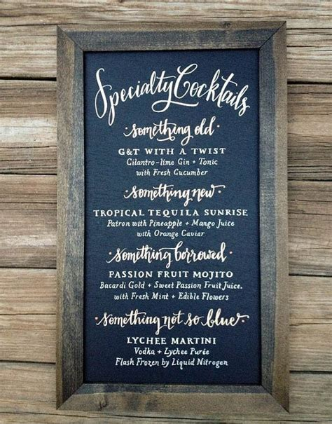 chalkboard specialty cocktails sign size 12 x 18 by