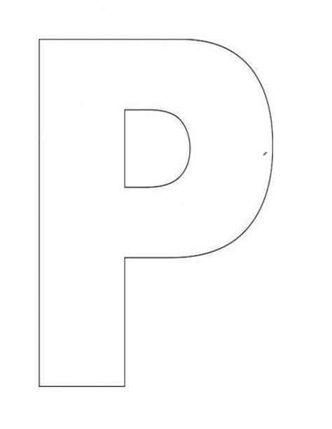 letter p template alphabet letter p template for letter of the week