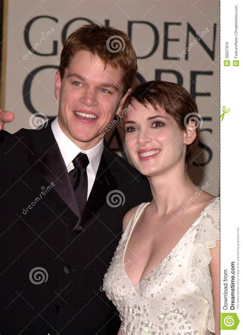 2d Designs matt damon winona ryder editorial photo image 35527916