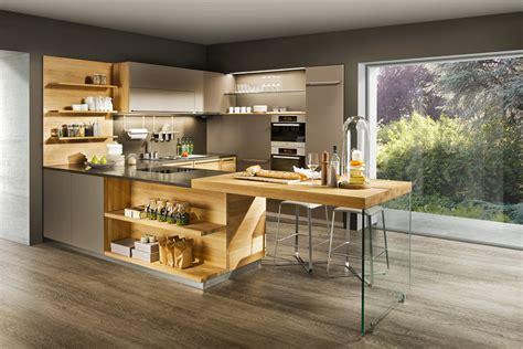holzküche modern modernes wohnzimmer beige