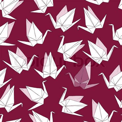 origami pattern vector origami crane vector seamless pattern stock vector