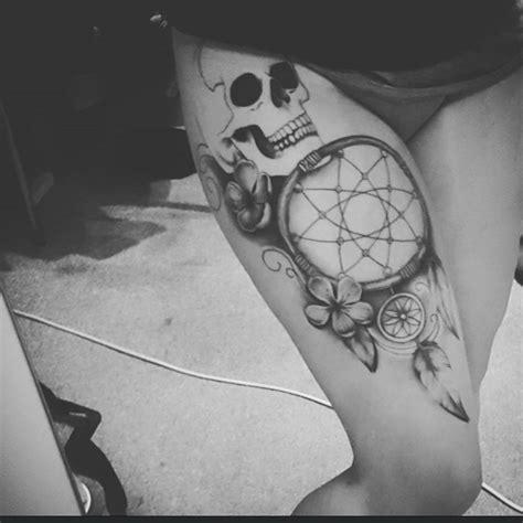 dreamcatcher rapper 30 stunningly dreamcatcher tattoo on thigh