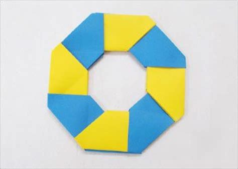 Circle Origami Paper - origami how to make 8 pointed for