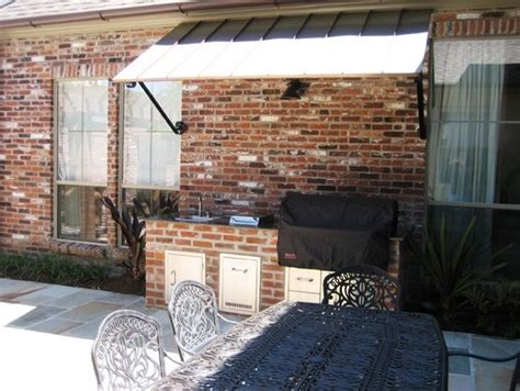 Barbecue Awning by Backyard Grilling Station Brick Metal Awning Patio Deck