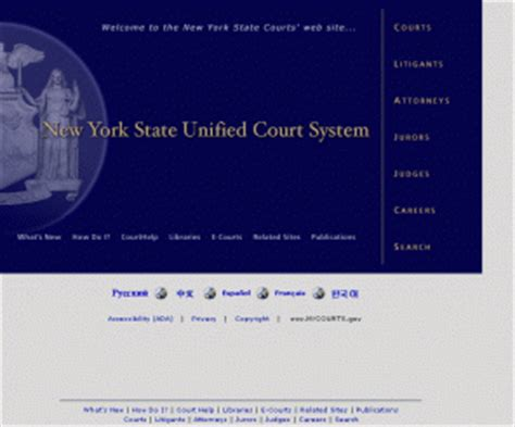New York State Unified Court System Criminal History Record Search Nycourts Gov New York State Unified Court System