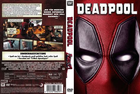 Cover A by Deadpool Dvd Cover Label 2016 R2 German Custom