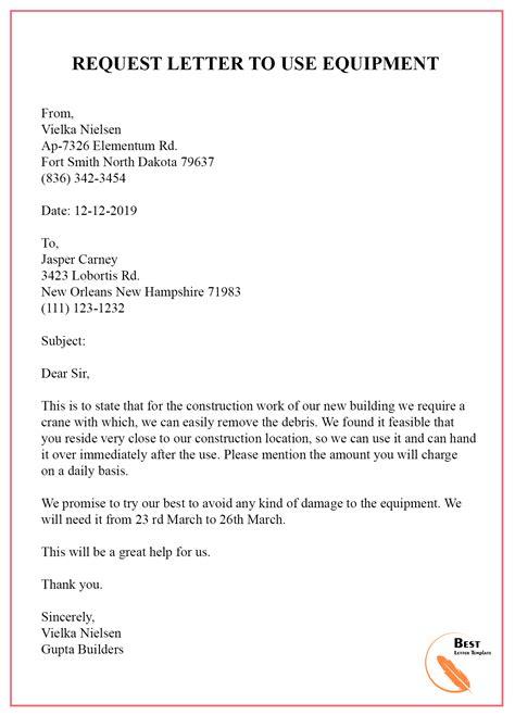 request letter template permission format sample