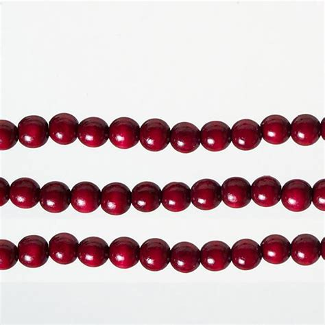 wood cranbery beads for christmas trees tree garland burgundy wood 9 length set of 3 ebay