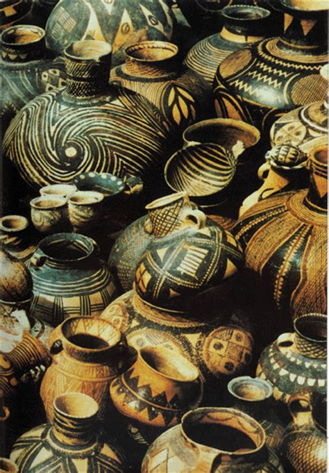 Yangshao Culture Vases by Yangshao Pottery