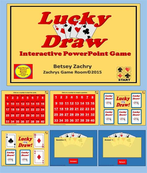 powerpoint game template lucky draw interactive game