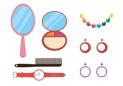 clipart vectors makeup and accessories vector pack free vector