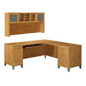 L Shape Desk With Hutch Bush Furniture Somerset 71 In L Shaped Desk With Hutch Atg Stores