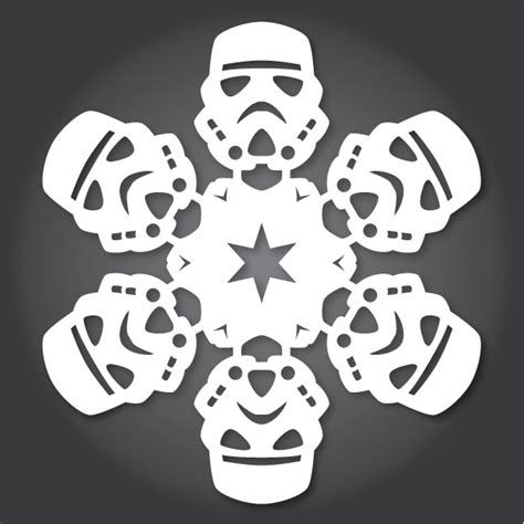 printable star wars snowflake templates how to make star wars snowflakes with paper scissors and