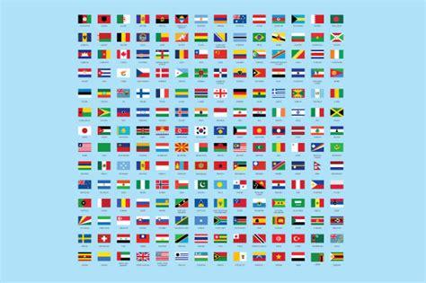 flags of the world not rectangular flat world flag round rectangle illustrations on