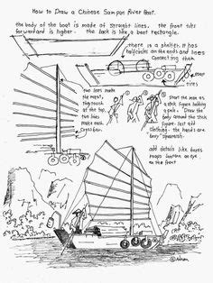 how to draw a gondola boat how to draw worksheets for the young artist how to draw a