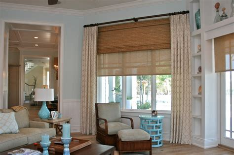 window treatmetns davis island house beach style family room ta