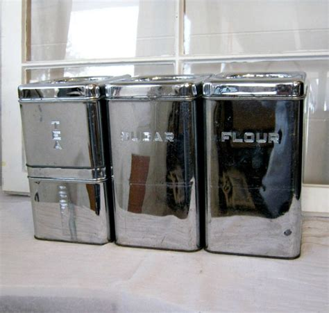 retro kitchen canister sets retro chrome kitchen canister set shabby chic mid