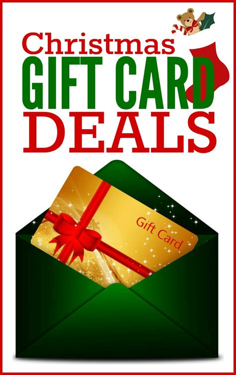 Gift Card Offers - christmas gift card deals frugal living nw