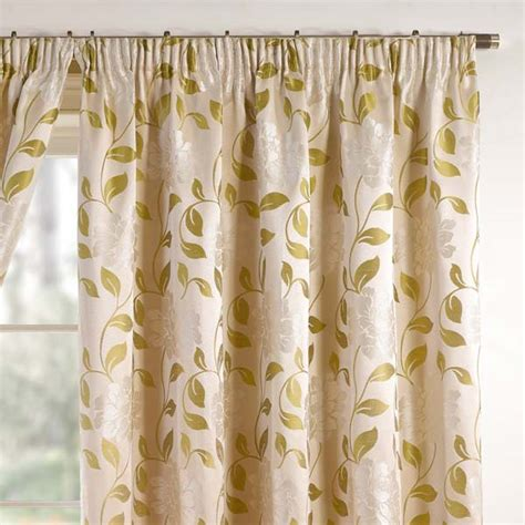 Floral Lined Curtains Barclay Davina Floral Woven Pencil Pleat Lined Curtains Ebay