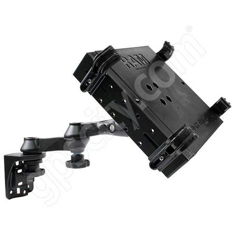 swing arm laptop holder ram mount vertical dual straight swing arm laptop mount