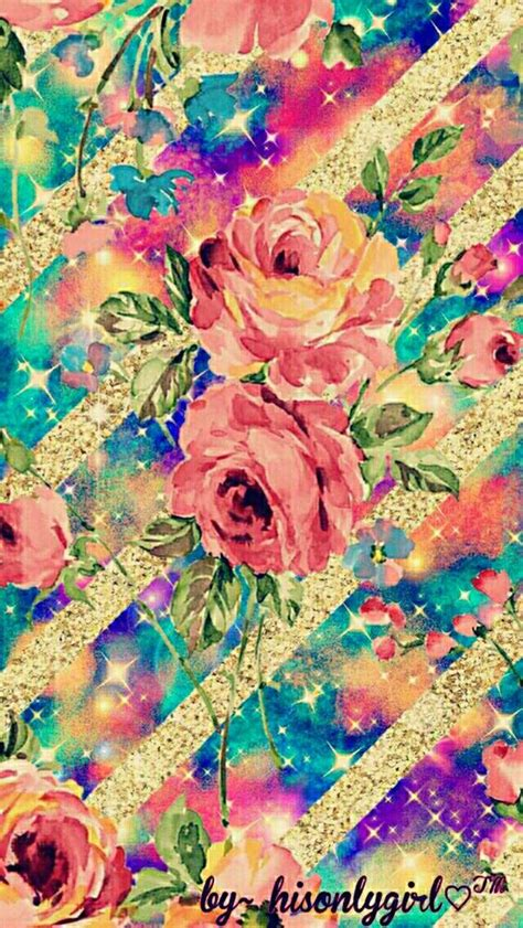 glitter vintage wallpaper floral glitter striped galaxy wallpaper i created for the